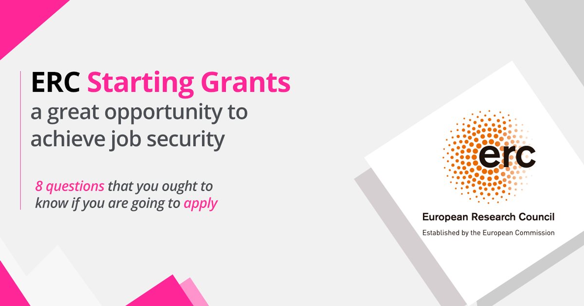 ERC Starting Grants: a great opportunity to achieve job security